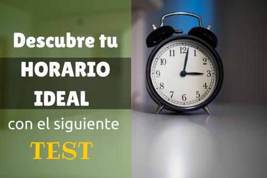 Descubre tu horario ideal con el siguiente test