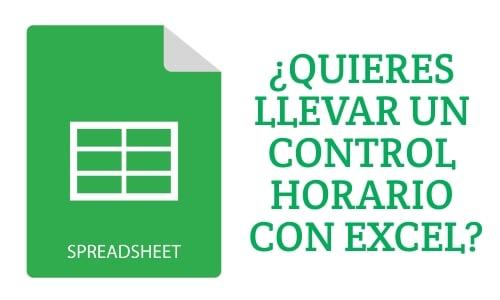 ¿Quieres llevar un control horario de los empleados con Excel?